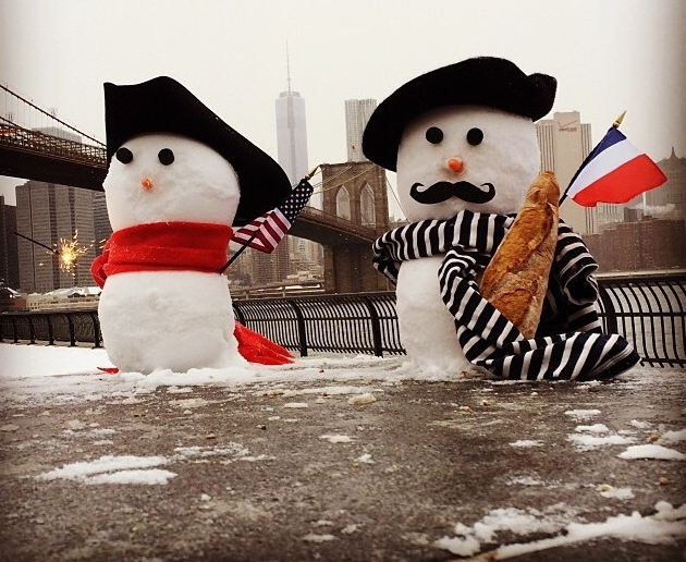 USE - French and American snowmen - CROP 2