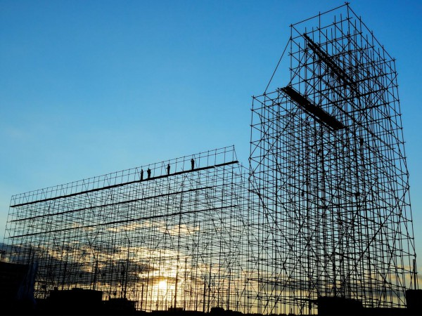 Scaffolding against sky - USE