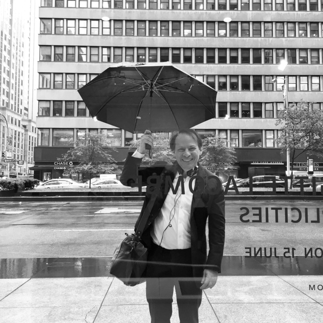 Adam With Umbrella - Brigitte Lacombe - USE